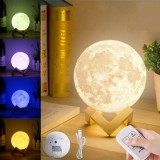 Price Comparison For 13Cm 3D Moon Lamp Usb Led Night Light Moonlight Gift Color Changing Intl
