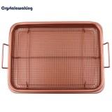 Recent 13Inch Copper Air Fryer Copper Crisper Tray Non Stick Mesh Grill Crisper Intl