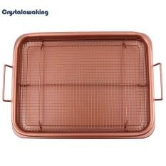 13Inch Copper Air Fryer Copper Crisper Tray Non Stick Mesh Grill Crisper Intl Best Price