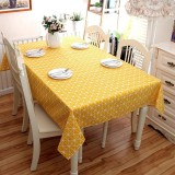 140 140Cm Cotton Dining Desk Cover Yellow Plaid Square Tablecloth Modern Home Kitchen Table Cloth Washable Table Covers Intl China