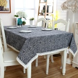 140 160Cm Wave Striped Pattern Cotton Linen Tablecloth Wedding Party Table Cloth Cover Home Decor Table Runners Intl Oem Cheap On China