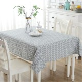 140 180Cm Plaid Tablecloth Rectangular Cotton Linen Tea Table Cover Hotel Party Dustproof Dinning Table Cloth Intl China