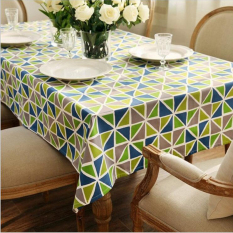 Best Offer 140Cm 180Cm Europe Geometric Dinner Tablecloth Diamond Cotton Canvas Kitchen Table Cover Coffee Table Cloths For Room