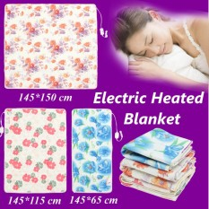 145*115cm Electric Heated Blanket Polyester Floral Printed Bedroom Blankets - Intl By Threegold.