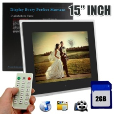 15 HD LED Digital Photo Picture Frame Video Album MP4 MP3 Player With 2GB SD Card - intl