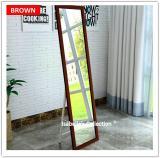 Buy 150Cm 38Cm Full Length Floor Mirror Pine Wood Frame Standing Makeup Dresser On Singapore