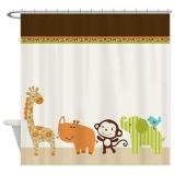 152X183Cm Cute Wildlife Jungle Animals Kids Bathroom Shower Curtain Liner Intl Online