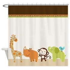 Sale 152X183Cm Cute Wildlife Jungle Animals Kids Bathroom Shower Curtain Liner Intl China Cheap