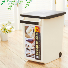 Review 15Kg Plastic Insect Into Roller Mi Tong Rice Storage Box China