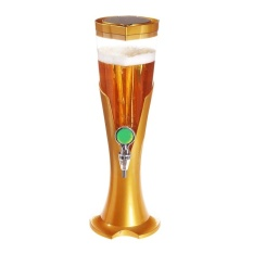 Cheapest 1 5L Heat Resistant Waterproof Detachable Tabletop Wine Beer Tower Beverage Juice Dispenser Yellow Intl Online
