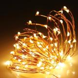 Cheap 15M 100 Led Battery Operated Copper Wire Warm White