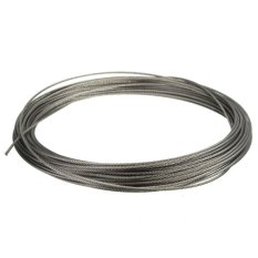 15m (50feet) 100% Marine Grade 316 Stainless Steel Cable Wire Rope 1/16 1.5mm - Intl By Audew.