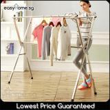 1 5M Extendable X Rack No Wheels Clothes Laundry Drying Hanger Rack Sale