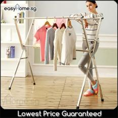 1 5M Extendable X Rack No Wheels Clothes Laundry Drying Hanger Rack Deal