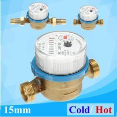 15mm 1/2 Hot Water Meter Flow for House Garden Measuring Meter Connectors - intl