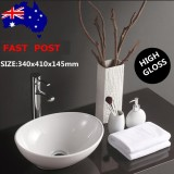 Price 16 Inch Round Bowl Ceramic Bathroom Vessel Vanity Sink White Art Basin Faucet Intl On China