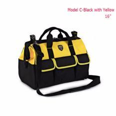 Best Buy 16 Weatherproof Electrician Tool Bag Heavy Duty Storage Single Shoulder Yellow Intl