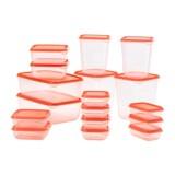 Wholesale 17 Sets Of Pruta Mix Food Container Transparent Green Orange