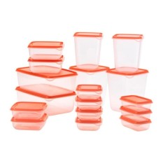List Price 17 Sets Of Pruta Mix Food Container Transparent Green Orange Ikea