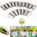 Lowest Price 17Pcs Russian Tulip Flower Icing Piping Nozzles Cake Decoration Tips Baking Tools
