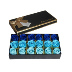 Cheap Mimosifolia 18 Pcs Bathing Rose Bud Flower Petal Soap Gift For Anniversary Birthday Wedding Valentine S Day Mother S Day Christmas Gradient Blue Online