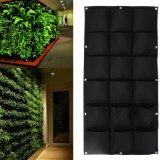 Buy Cheap 18 Pockets Vertical Garden Wall Planter Hanging Bags Pot For Herbs Home Decor Black Intl