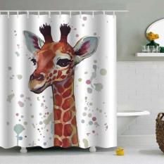 180 180Cm 3D Cartoon Peva Smooth No Smell Bathroom Shower Door Window Thicken Curtain Intl On Line