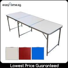 180cm X 60cm Portable Foldable Aluminium Table By Easyhome.sg.