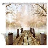 Discount 180X180Cm Beatiful White Orchids Water Reflection Bath Shower Curtain Waterproof Intl Oem On China