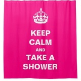 Compare Prices For 180X180Cm Hot Pink Color With Words Bath Shower Curtain Waterproof Intl