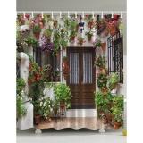 Best Reviews Of 180X180Cm Spanish House Print Bath Shower Curtain Waterproof Intl