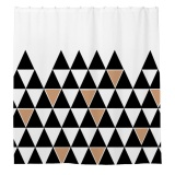 Buy 180X180Cm White And Black Triangle Pattern Bath Shower Curtain Waterproof Intl Oem