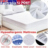 Compare Price 180X200Cm White Waterproof Mattress Pad Protector Bed Cover Soft Hypoallergenic Intl On Singapore