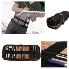 Sale 18Pcs Sketch Pencil Charcoal Eraser Paper Pen Cutter Drawing Set Writing Kit Bag China