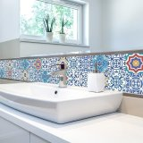 Buy Cheap 196 8 Inches Pvc Waterproof Self Adhesive 3D Vintage Colorful Tile Wallpaper Roll Wall Floor Contact Paper Stickers Covering Decal Home Decor Intl