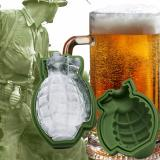 Get Cheap 1Pc Creative Bar Accessories Green 3D Grenade Large Ice Cube Mold Tray