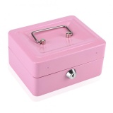 1Pc Mini Portable Steel Petty Lockable Cash Money Coin Safe Security Box Household Pink Intl Reviews