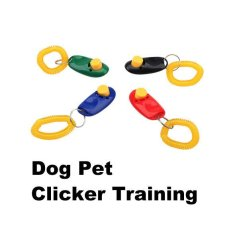 1pc Pet Dog Training Aid Wrist Clicker (multicolor) By Welcomehome.