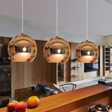 Review 1Pcs 20Cm Glass Mirror Ball Ceiling Pendant Light Modern Tom Dixon Lamp Chandelier Intl Not Specified
