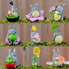 1set Cute Mini My Neighbor Totoro Anime Figure DIY Moss Micro Landscape Toys Multi Intl - intl