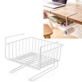 Cheap 1X Multi Purpose Metal Hanging Under Shelf Basket Storage Holder Hanger Drawer Closet Organizer Basket Wrap Rack Bookcase Stand Intl Online