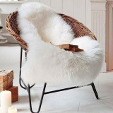 Best Deal 2 In 1 Chair Seat Cover Faux Fur Soft Fluffy Wool Carpet Plain Rug Mat Bedroom Intl