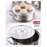 Sale Rc Global 2 Layer Heavy Duty Stainless Steel Steamer Wok 不锈钢特厚双媲蒸锅 24Cm Rc Global On Singapore