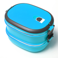 Sale 2 Layers Bento Thermal Insulated Lunch Box Case Stainless Steel Camping Food Container Intl China