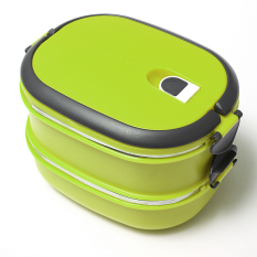 Buying 2 Layers Stainless Steel Lunch Box Picnic Storage Box Insulated Thermal