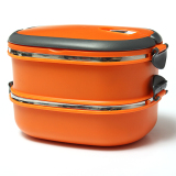 How To Buy 2 Layers Stainless Steel Lunch Box Picnic Storage Box Insulated Thermal Orange
