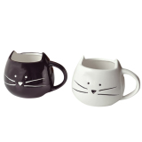 Price Comparisons Of 2 Pcs Little White And Black Cat Coffee Milk Water Ceramic Mug Cup Christmas Birthday Gift