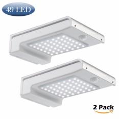2 Pcs Solar Lights 49 Led Outdoor Security Lighting Sensor Wall Pack Lamp Waterproof Aluminium Garden Gutter Light 2 Pack Intl On Line