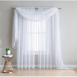 Best 2 Piece Rod Pocket Sheer Panel Curtains Fabric Sheer Voile Curtains For Window Treatment Natural Light Flow Wide Wide 140Cm Long 260Cm White Intl