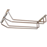 For Sale 2 Rows Stainless Wine Goblet Cup Holder Bar Hanging Upside Down Rack Middle Export